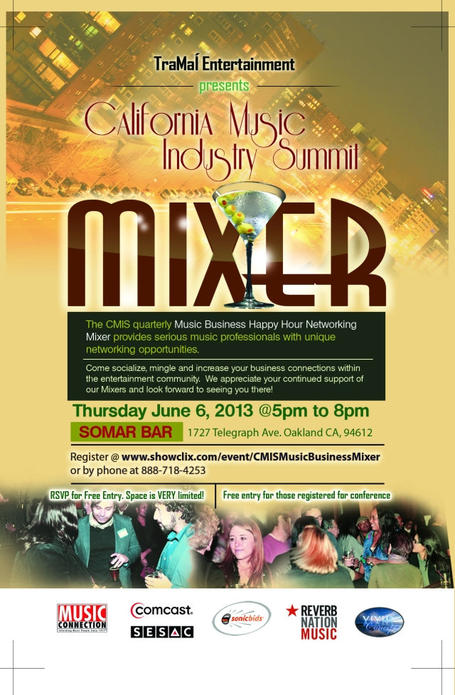 Music Business Network mixer in Oakland, CA @ Club Somar